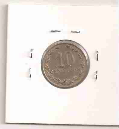 ml-4518 moeda argentina (10 centavos) 19mm 1921