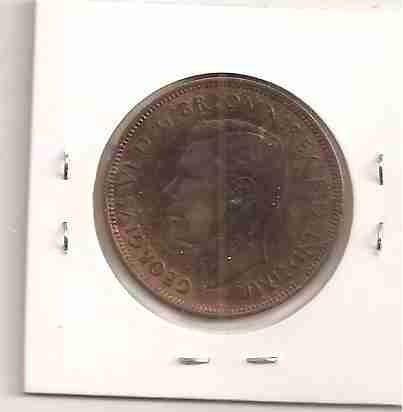 ml-4695 moeda inglaterra (one penny) 30mm 1938