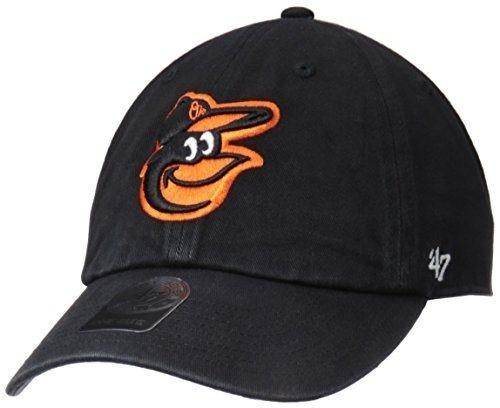 mlb baltimore orioles '47 limpiar ajustable sombrero, negro
