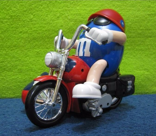 m&m - dispensador de dulces grande moto con sidecart