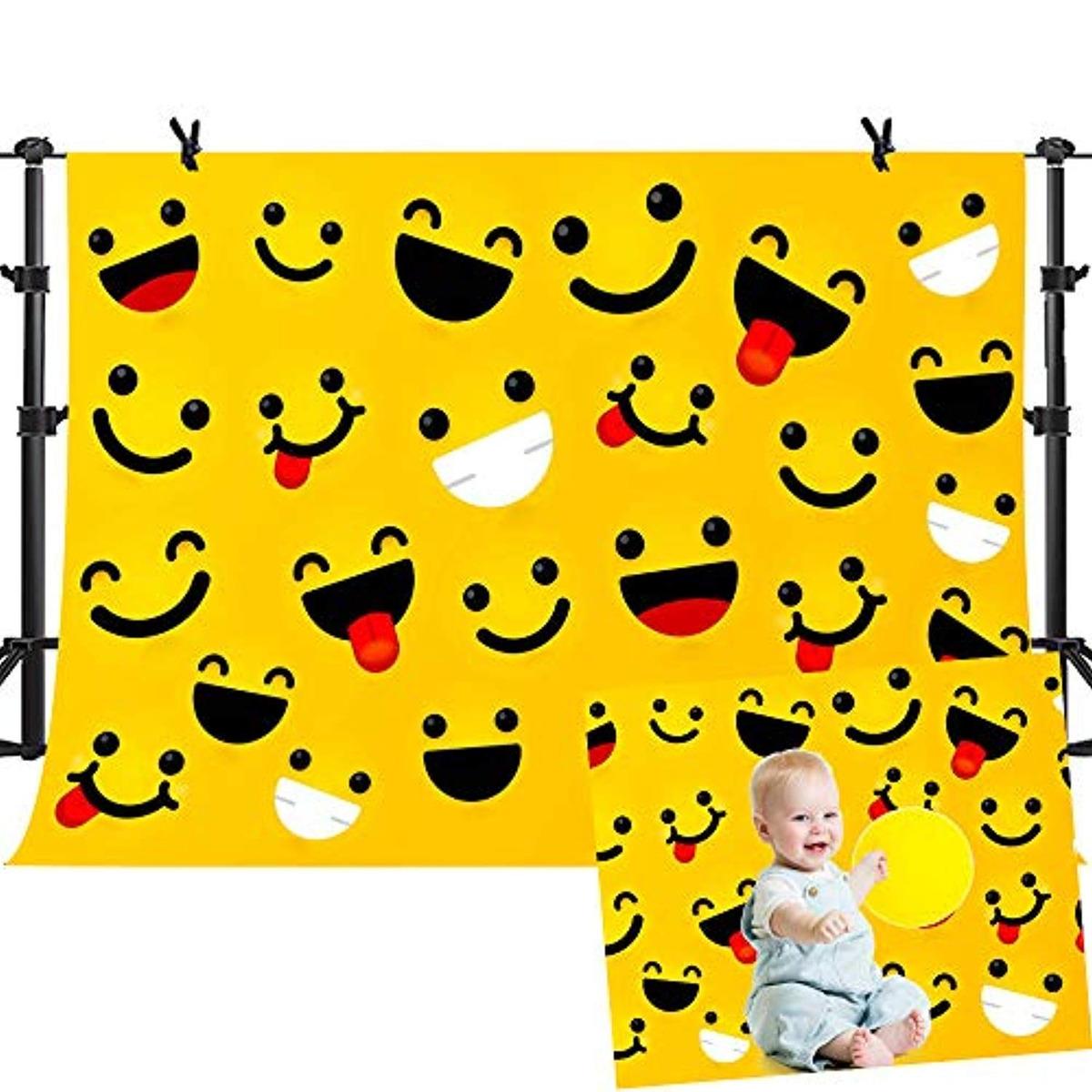 Mme 10x7ft Expresiones De Emoji Dibujos Animados