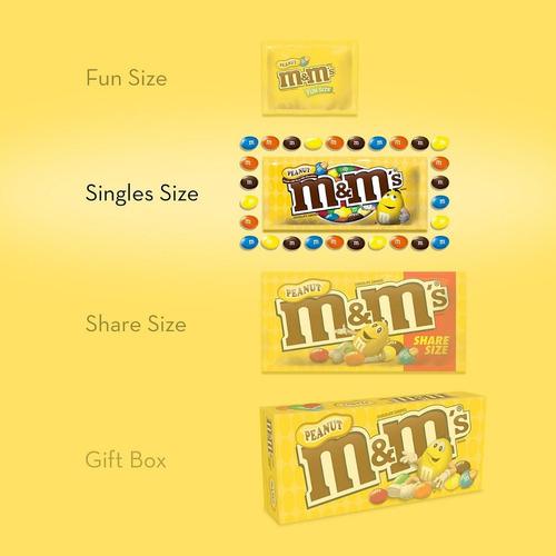 m&m's caramelo de chocolate de maní. (48 unid)