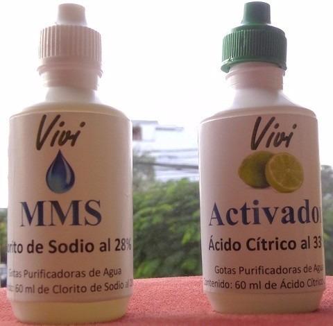 mms / desinfectante / gotas purificadoras 60ml c a.cítr./hcl