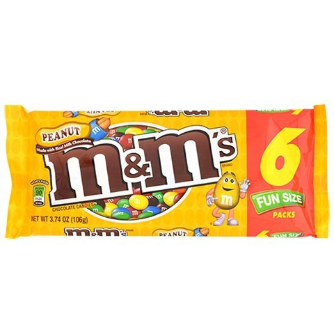 m&m´s fun size peanut bolsa x 6 sobrecitos 79gr