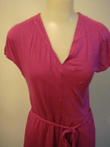 mng vestido em viscolycra tam. p rosa lindo basico mango
