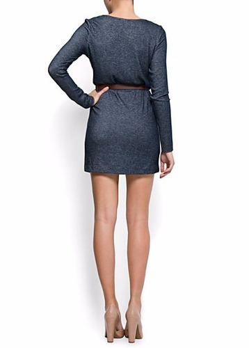 mng vestido talla s color acero