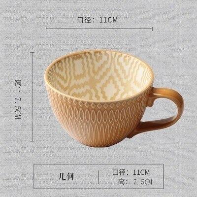 Mão Cerâmica Pintados Supplies Cup Vintage Coffee Cup Cria