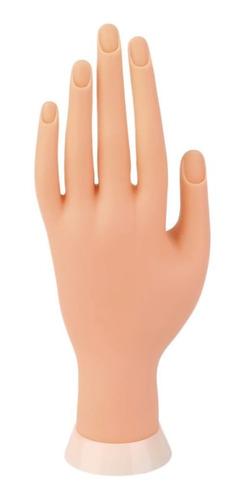 mão postiça para treino manicure silicone unhas gel dedo
