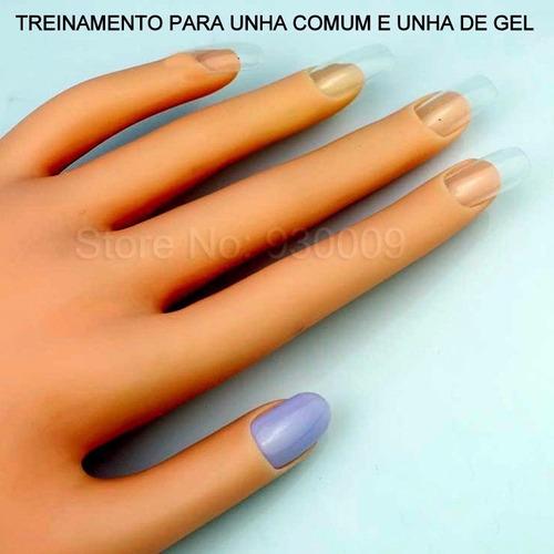 mão postiço de treino manicure dedo postiço unha acrigel