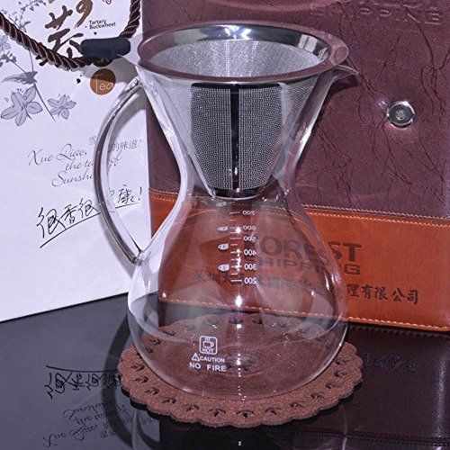moacc pour over coffee maker with filter,