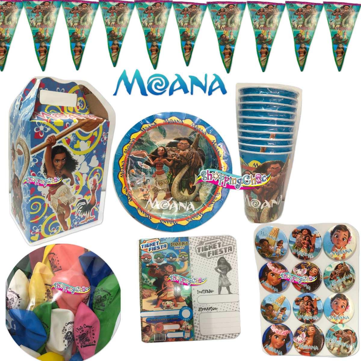 excellent moana artculos fiesta paquete nios fiesta infantil with accesorios para fiestas de cumpleaos infantiles