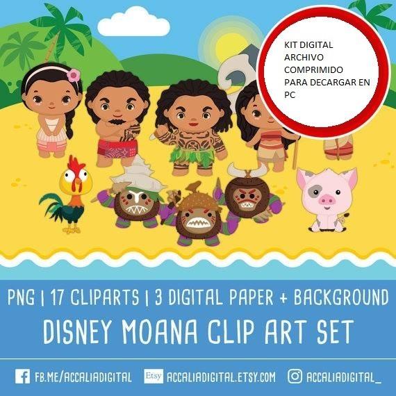 Moana Clipart Png Papel Digital