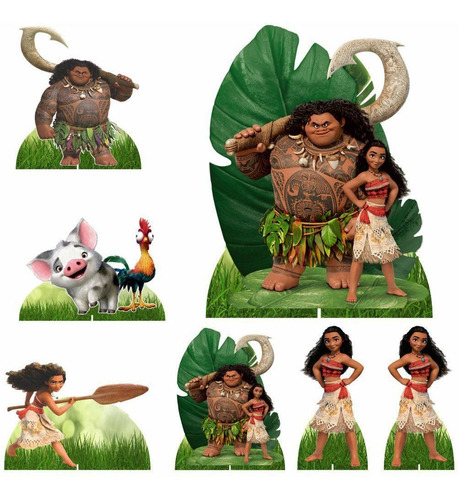 moana kit festa display + painel 150x100 - 12x s/juros