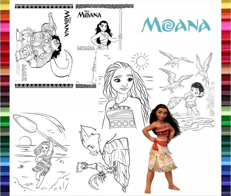 Moana Libritos Para Colorear Y Actividades Imprimir S221