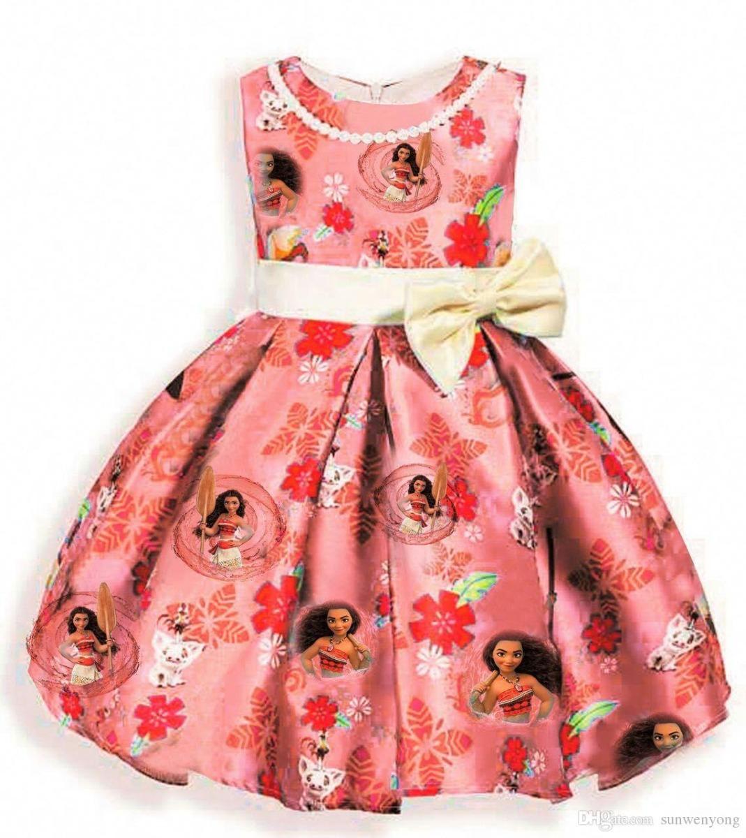Moana Vestido Niña -   450.00 en Mercado Libre 594fe8090a33