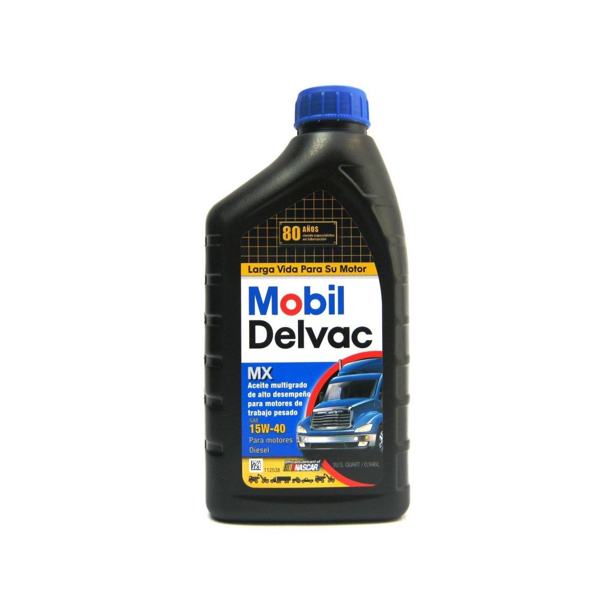 Mobil Delvac 15w40 >> Mobil Aceite Delvac Mx 15w40 Cuarto - $ 41.000 en Mercado Libre