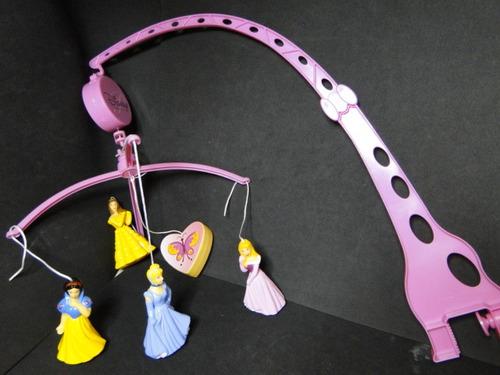 mobile berço bebe musical princesas disney cinderela branca