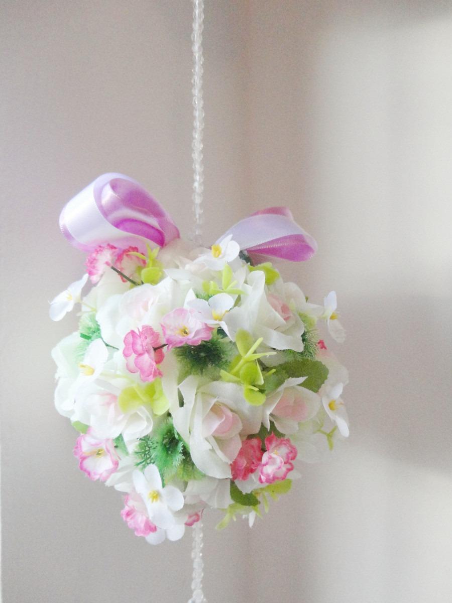 Enfeite De Cortina ~ Móbile Floral Topiaria Enfeite Para Porta, Cortina E Teto R$ 95,00 em Mercado Livre