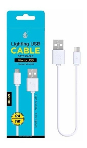 mobile hut cable usb a micro usb 1 mt 2a - phone store