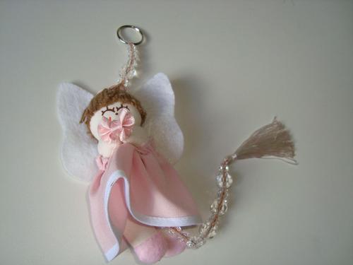 móbile infantil cordão miçangas boneca anjo tecido  12 p2