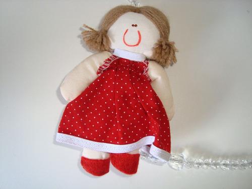 móbile infantil cordão miçangas bonecas tecido estampado 03