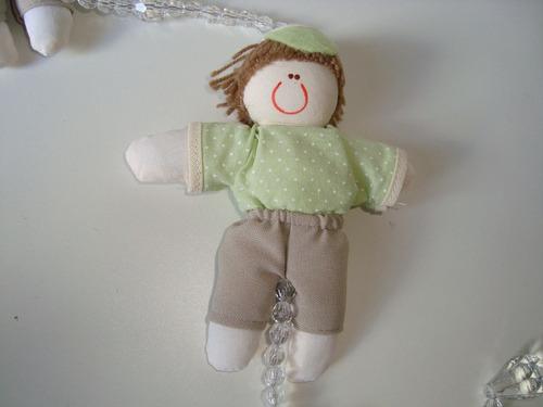 móbile infantil cordão miçangas bonecos tecido estampado 08