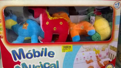 móbile musical berço bebê - pelúcia - musical