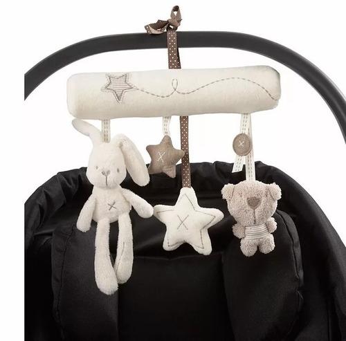 mobile musical chocalho para pendurar berço e carrinho bebê