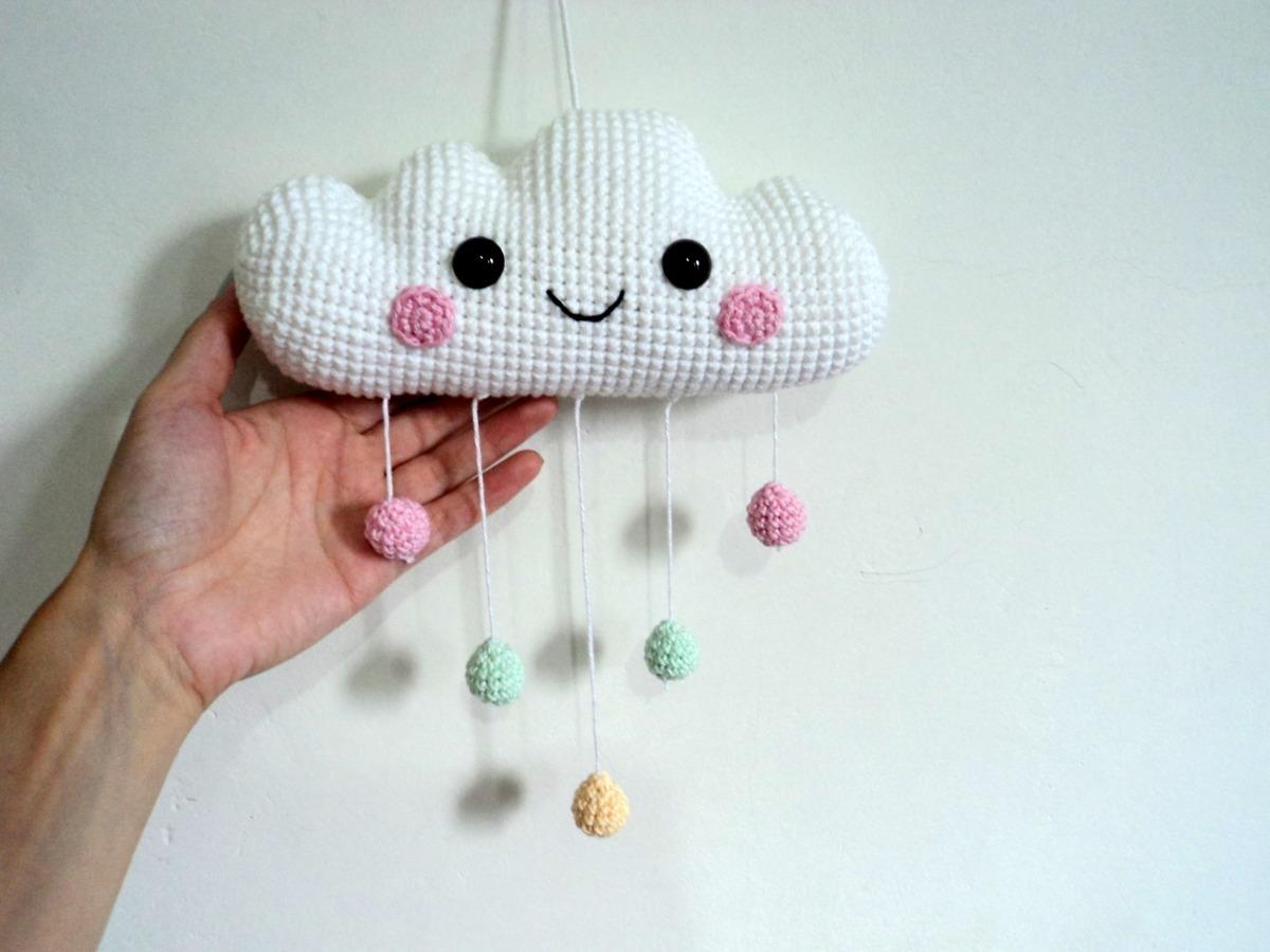 Nina, a Nuvem amigurumi em crochet   Mobile de croche, Decoração ...   900x1200