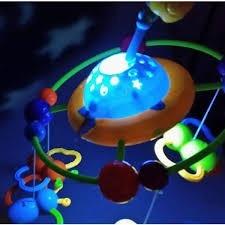 mobile projetor amiguinhos orbital musical giratorio com luz