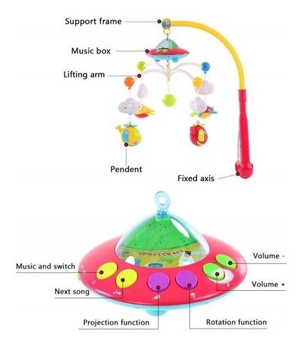 mobile projetor luminaria com controle musical cancao ninar