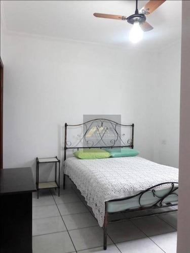 mobiliado, 300 metros da praia, excelente 02 dormitório para locação, bairro guilhermina, praia grande /sp - ap1540