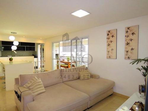 mobiliado condomínio varandas guarulhos com 124m² andar alto