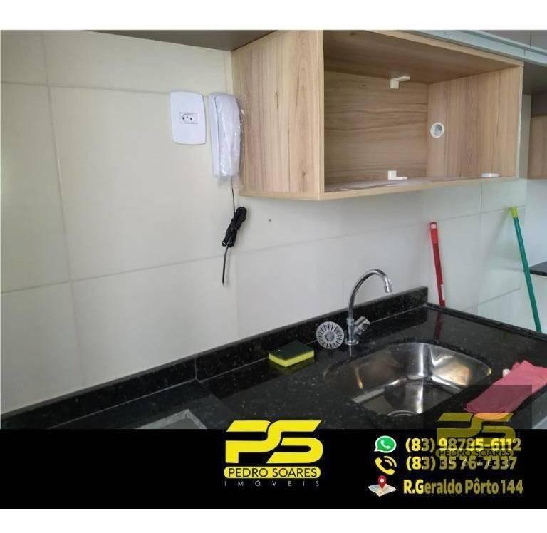 (mobiliado) flat com 1 quarto para alugar, 30 m² por r$ 1.300/mês - tambaú - fl0047