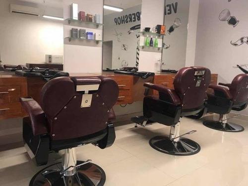 mobiliario completo para barbería