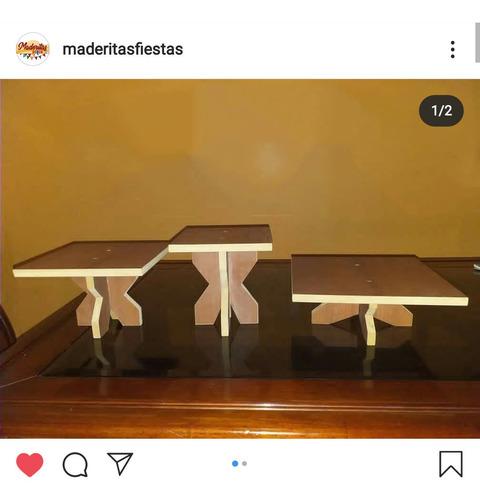 mobiliario de madera y mdf para fiestas