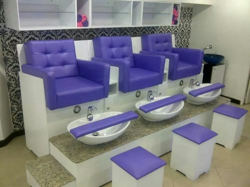 mobiliario de peluquería: mesas; poltrona; sillas peluquería