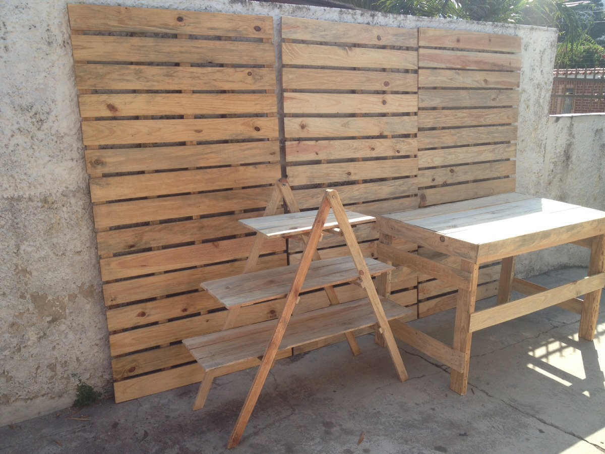 Mobiliario en palets para fiestas bs en mercado libre - Palets para decoracion ...