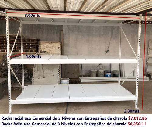 mobiliario estanteria en racks y gondola para cotizaciones