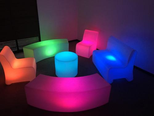 mobiliario iluminado salas lounge pista iluminada