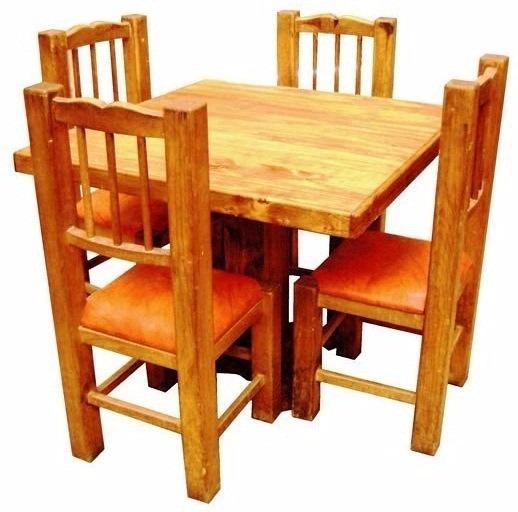 Mobiliario restaurante mesa sillas economico azteca rusticos 4 en mercado libre - Compro muebles voy a domicilio ...