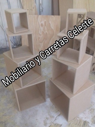mobilirio para dulces candy bar 8  cubos