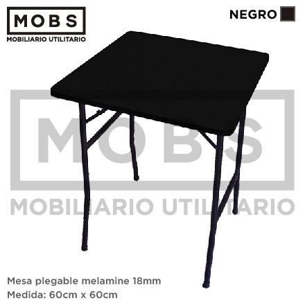 Mobs mesa plegable melamine 60x60 otras medidas y for Mesa plegable medidas