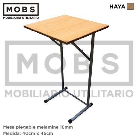 Mobs mesa plegable melamine 80x120 otras medidas y for Mesa plegable medidas
