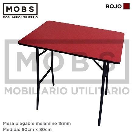 Mobs mesa plegable melamine 80x60 otras medidas y for Mesa plegable medidas