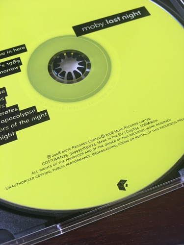 moby cd - last night (2008) importado eu [usado]
