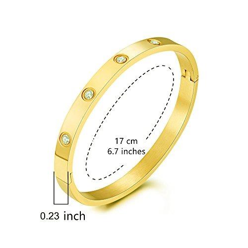 7ce0328733ac Mocalady Jewelry 18 K Brazalete Oro Pulsera Conjunto Piedra ...