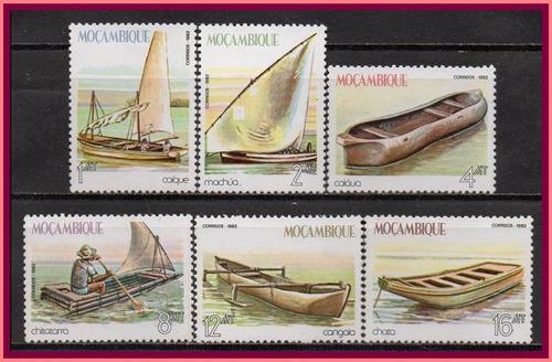 moçambique - barcos tradicionais - 1982 - s/completa