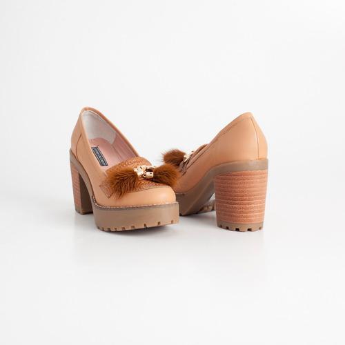 mocasin de cuero. art clem suela. otro calzado