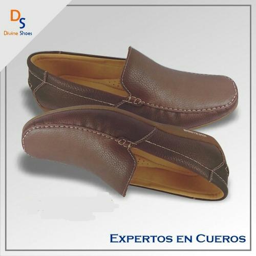 mocasín de hombre, zapato de cuero,